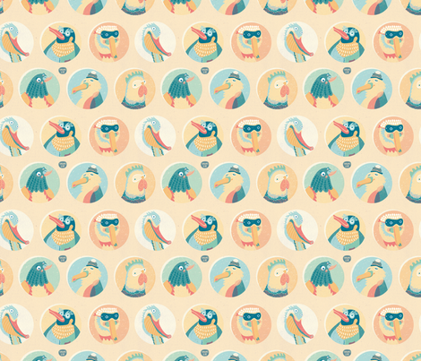 Wild Birds fabric by teken-ing on Spoonflower - custom fabric
