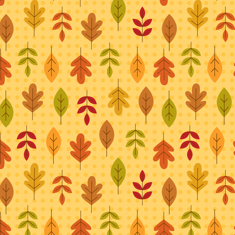 leaf love fabric by nina7 on Spoonflower - custom fabric