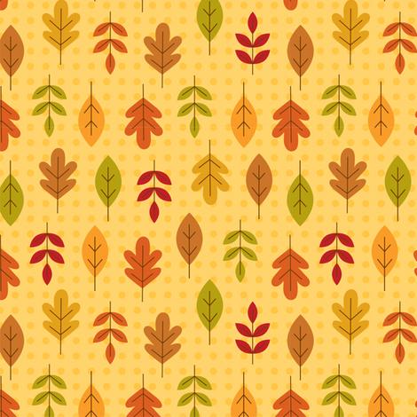 leaf love fabric by nina7 on Spoonflower - custom fabric