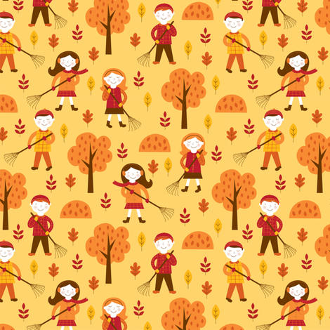 little rakers fabric by nina7 on Spoonflower - custom fabric