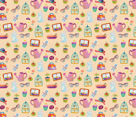 Goodness of the home fabric by teken-ing on Spoonflower - custom fabric