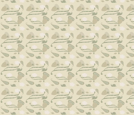 acornsnail fabric by heidikaether on Spoonflower - custom fabric