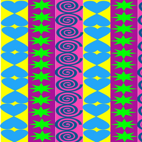 Coloured Pattern Stripe