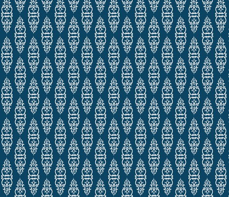blue-white-window fabric by heatherrothstyle on Spoonflower - custom fabric