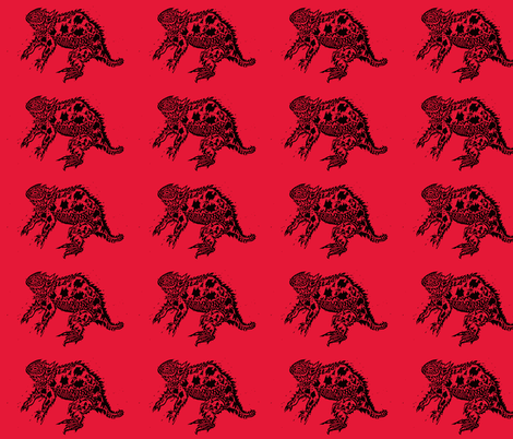 Red Leapin' Lizard fabric by bad_penny on Spoonflower - custom fabric