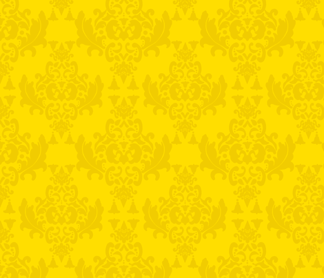 Mustard Damask fabric by mayabella on Spoonflower - custom fabric