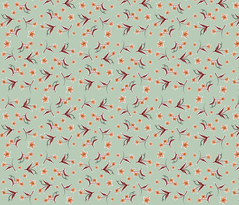 flowers fabric by katherinecodega on Spoonflower - custom fabric