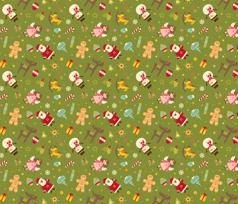 Christmas pattern fabric by utehil on Spoonflower - custom fabric