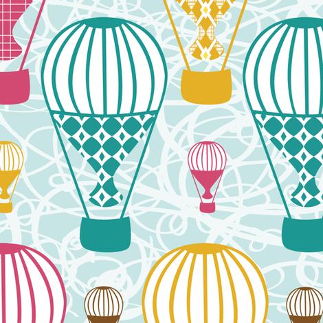 up & away fabric by tradewind_creative on Spoonflower - custom fabric