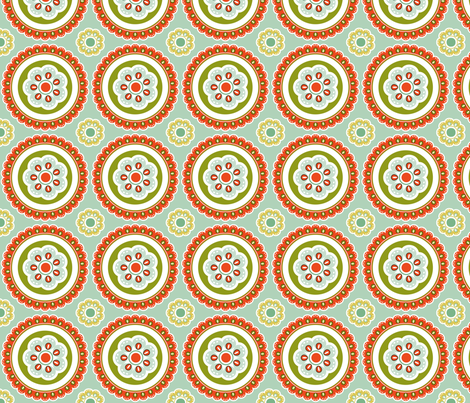 flowers fabric by eedeedesignstudios on Spoonflower - custom fabric