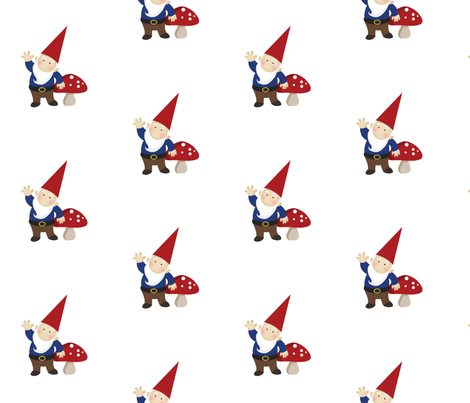 Just Gnomes - Boy fabric by inktreepress on Spoonflower - custom fabric
