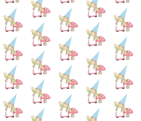 Just Gnomes - Girl fabric by inktreepress on Spoonflower - custom fabric