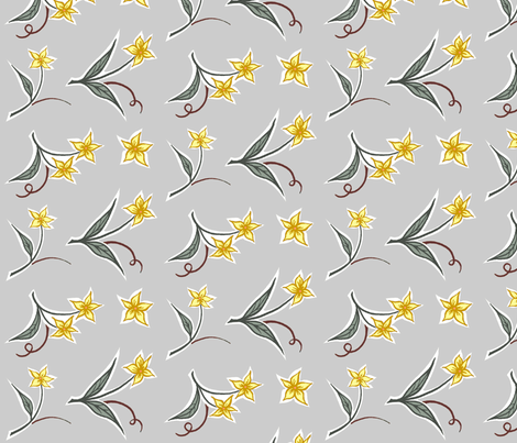 flowers, large scale fabric by katherinecodega on Spoonflower - custom fabric