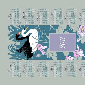 2011 swan calendar (display)
