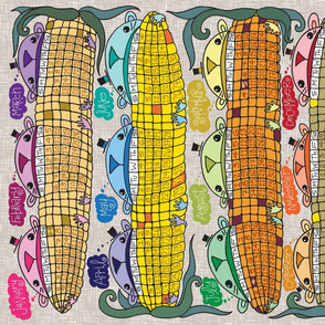Just Another Corny Calendar Tea Towel