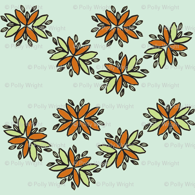 orange flower chain