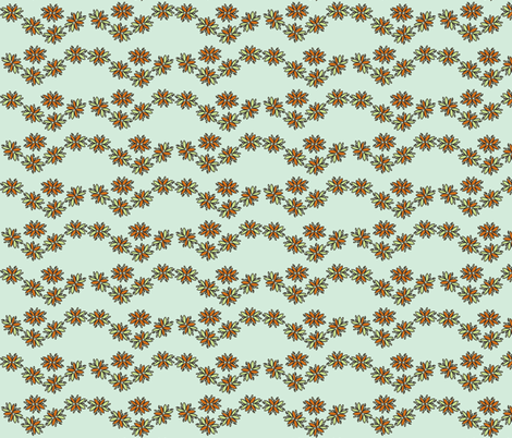 orange flower chain fabric by luluhoo on Spoonflower - custom fabric