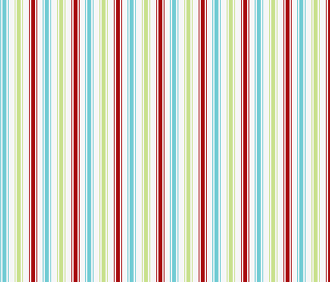 Candy Stripe Christmas fabric by hauteideas on Spoonflower - custom fabric