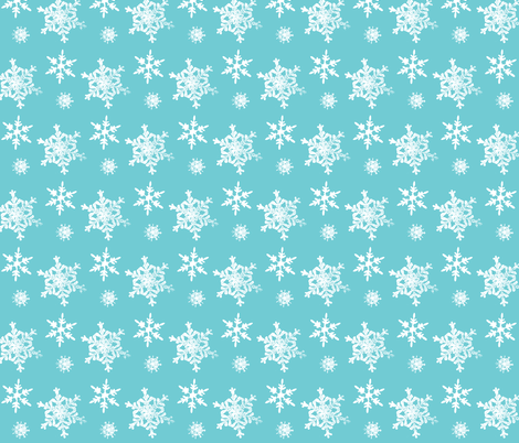 Let it Snow fabric by hauteideas on Spoonflower - custom fabric