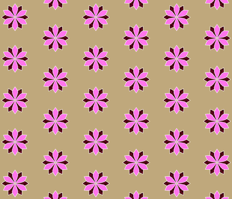 Pink_Flower fabric by siya on Spoonflower - custom fabric