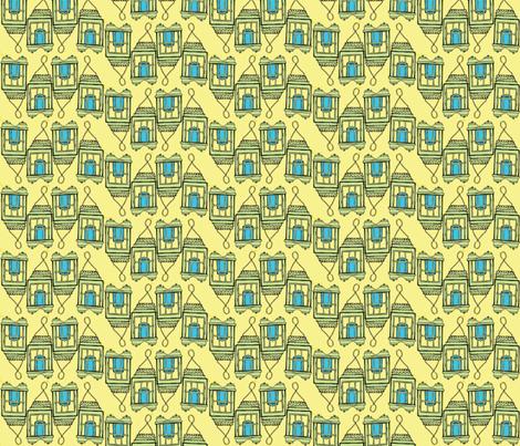 blue candle line fabric by luluhoo on Spoonflower - custom fabric