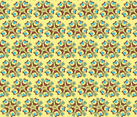 candle flower fabric by luluhoo on Spoonflower - custom fabric