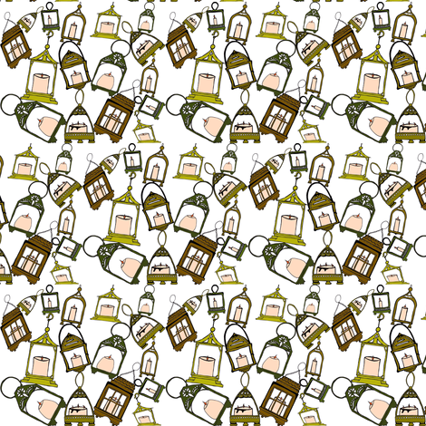 candlegreens fabric by luluhoo on Spoonflower - custom fabric