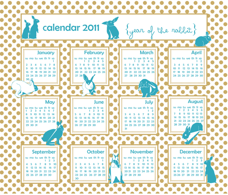 BlueBunnies - ( zoom for sharper view) fabric by newmom on Spoonflower - custom fabric