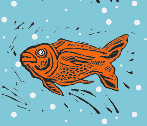 Fabby Fish fabric by bad_penny on Spoonflower - custom fabric