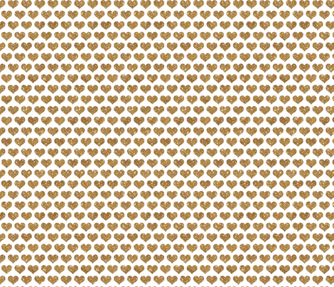 Giltter Hearts Gold fabric by cynthiafrenette on Spoonflower - custom fabric