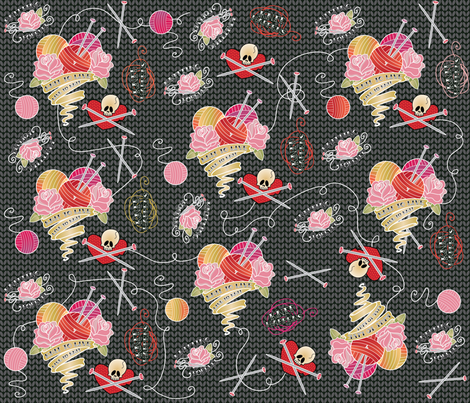 Knitting Forever fabric by cynthiafrenette on Spoonflower - custom fabric