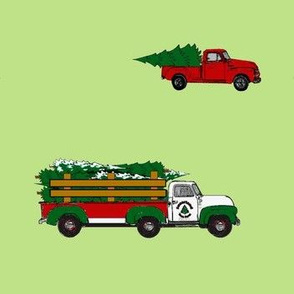 Bringing Home the Tree (just trucks)