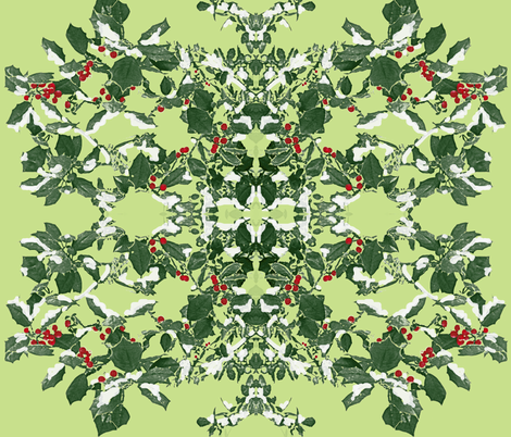 Holly Holiday fabric by hauteideas on Spoonflower - custom fabric