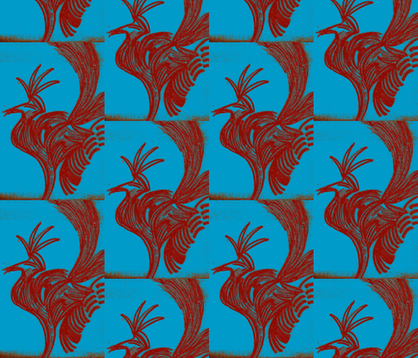 JamJax Brown Rooster fabric by jamjax on Spoonflower - custom fabric