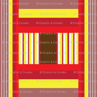 Wide Tribal Stripe in Brick