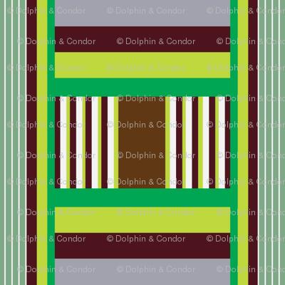 Wide Tribal Stripe Winter Green