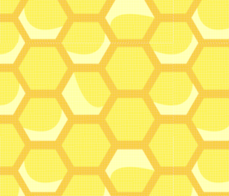 Large Vintage Honeycomb fabric by nightgarden on Spoonflower - custom fabric