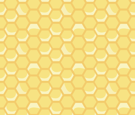Medium Honeycomb fabric by nightgarden on Spoonflower - custom fabric