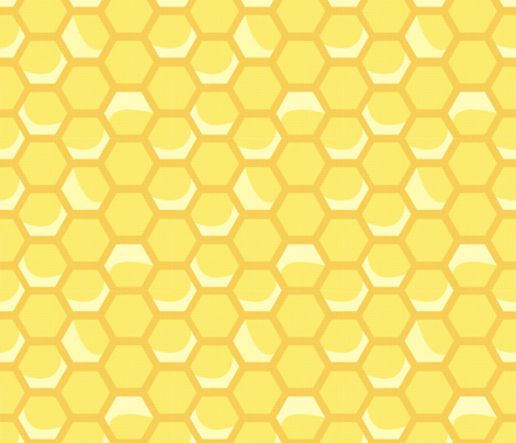 Medium Vintage Honeycomb fabric by nightgarden on Spoonflower - custom fabric