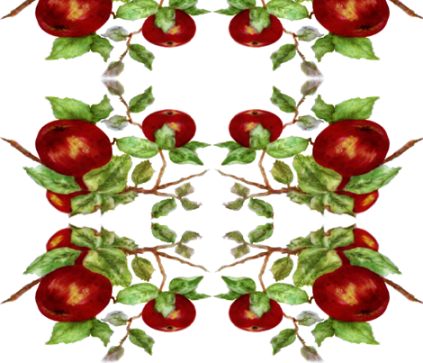 Apples mirror fabric by paragonstudios on Spoonflower - custom fabric