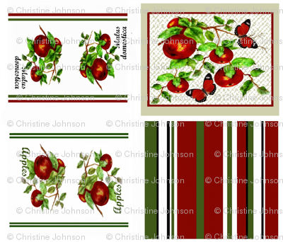 Apples Plenty tea towel set