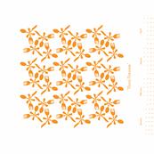 Floral-Flatware-Orange