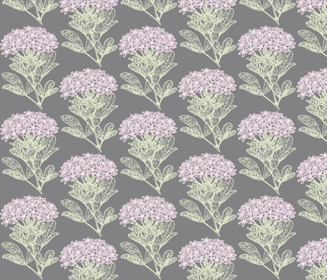 Choisya Floral (pastels on gray) fabric by hauteideas on Spoonflower - custom fabric