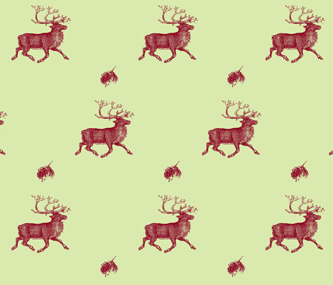 Reindeer Games fabric by hauteideas on Spoonflower - custom fabric