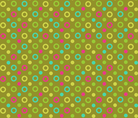 dots_on_brown fabric by eedeedesignstudios on Spoonflower - custom fabric