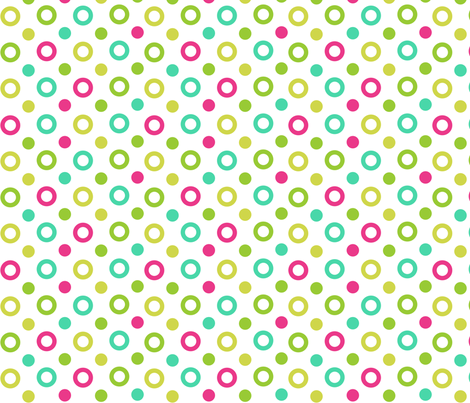Dots_on_white fabric by eedeedesignstudios on Spoonflower - custom fabric