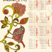 El Canario Tea Towel Calendar