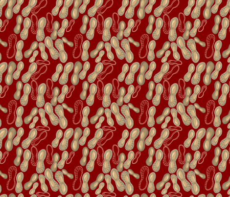 Peanuts and jelly fabric by marlene_pixley on Spoonflower - custom fabric