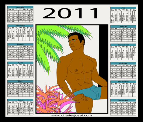 2011 Pin-up Man Calendar