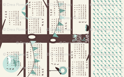 Super Tweet 2011 Tea Towel Calendar (click on title to see image right side up)